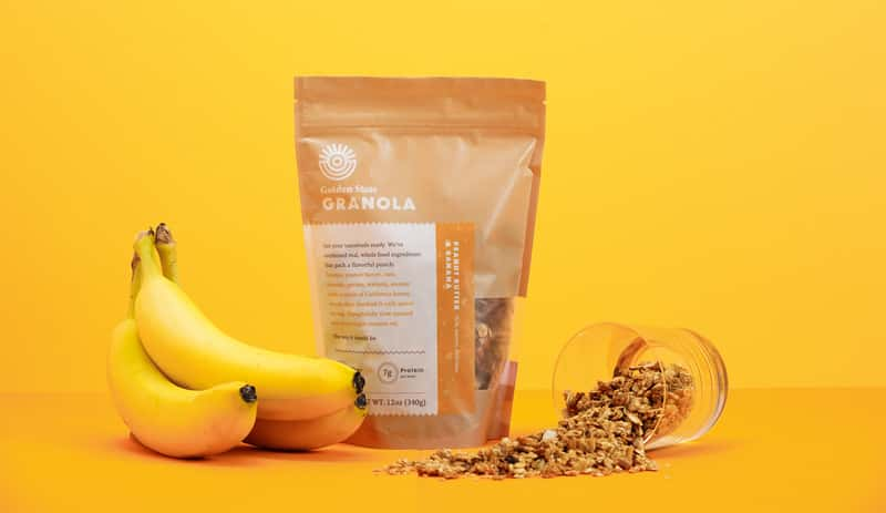 Golden State Granola Packaging Peanut Butter Banana